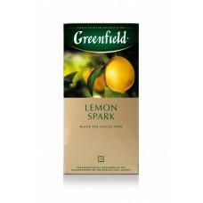 Чай черный в пакетиках для чашки Greenfield Lemon Spark (Гринфилд Лемон Спарк), 25*1,5 г