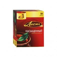 Чай черный в пакетиках для чашки, Лисма Насыщенный, 100*1,8 г