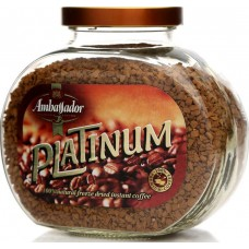 Кофе растворимый Ambassador Platinum, банка, 190 г