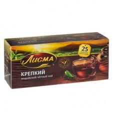 Чай черный в пакетиках для чашки, Лисма Крепкий 25*2 г.
