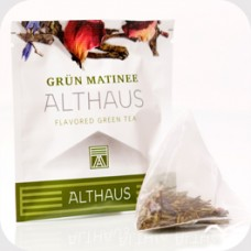 Чай зеленый в пирамидках Althaus Grun Matinee (Альтхаус Грюн Mатине), 15*2,75 г