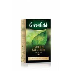 Чай зеленый листовой травяной Greenfield Green Melissa (Гринфилд Грин Мелисса), 85 г