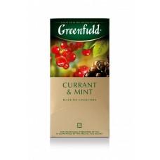Чай черный в пакетиках для чашки Greenfield Currant & Mint (Гринфилд Карэнт энд Минт), 25*1,8 г