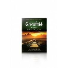 Чай черный в пирамидках Greenfield Rich Ceylon (Гринфилд Рич Цейлон), 20*2 г