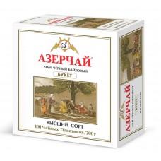 Чай черный в пакетиках для чашки Азерчай Букет, 100*2 г
