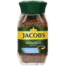 Кофе растворимый Jacobs Monarch Decaffeinated, банка, без кофеина, 95 г