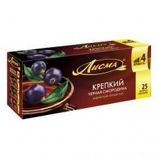 Чай черный в пакетиках для чашки, Лисма Черная смородина 25*1,5 г.