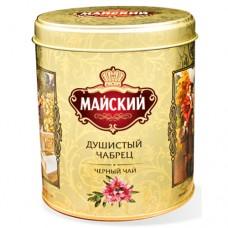 Чай черный  листовой Майский Душистый Чабрец, ж/б , 90 г