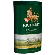 Чай зеленый листовой Richard Royal Green, ж/б, 80 г