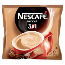 Кофейный напиток растворимый Nescafe 3 в 1 Мягкий, 50*16 г