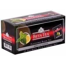 Чай черный в пакетиках для чашки Beta Tea Мята и лимон, 25*2 г
