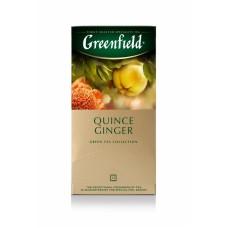 Чай зеленый в пакетиках для чашки Greenfield Quince Ginger (Гринфилд Квинс Джинджер), 25*2 г