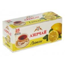 Чай черный в пакетиках для чашки Азерчай Лимон, 25*1,8 г