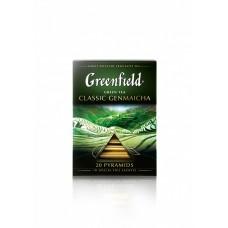 Чай зеленый в пирамидках Greenfield Classic Genmaicha (Гринфилд Классик Генмайча), 20*1,8 г