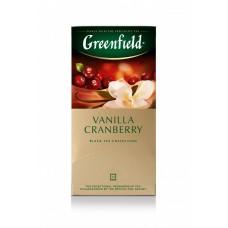 Чай черный в пакетиках для чашки Greenfield Vanilla Cranberry (Ванилла Крэнберри), 25*1,5 г