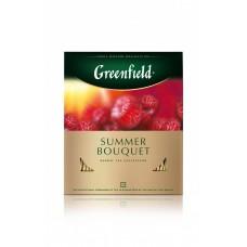 Чай фруктовый в пакетиках для чашки Greenfield Summer Bouquet (Гринфилд Самма Букет), 100*2 г