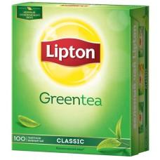 Чай зеленый в пакетиках для чашки Lipton Classic 100х1,7 г
