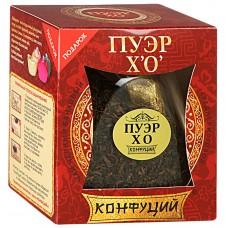 Чай черный листовой Конфуций Пуэр ХО, банка, 75 г