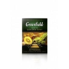 Чай черный в пирамидках Greenfield Golden Kiwi (Гринфилд Голден Киви), 20*1,8 г