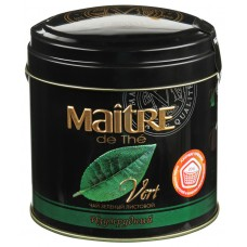 Чай зеленый листовой Maitre Изумрудный, ж/б, 100 г