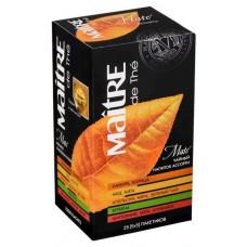 Чай зеленый в пакетиках для чашки Maitre Ассорти Матэ, 25*2 г