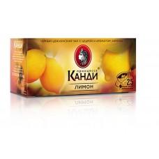 Чай черный в пакетиках для чашки Принцесса Канди Лимон, 25*1,5 г