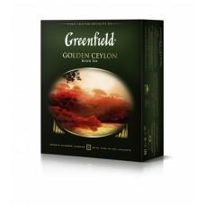 Чай черный в пакетиках для чашки Greenfield Golden Ceylon (Гринфилд Голден Цейлон), 100*2 г
