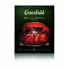 Чай черный в пакетиках для чашки Greenfield Kenyan Sunrise (Гринфилд Кениан Санрайз), 100*2 г