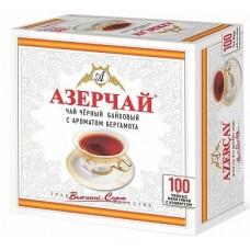 Чай черный в пакетиках для чашки Азерчай с бергамотом, 100*2 г