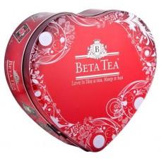 Чай черный в пакетиках для чашки Beta Tea Сердце, ж/б, 100 г