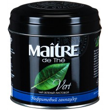 Чай зеленый листовой Maitre Нефритовый ганпаудер, ж/б, 100 г