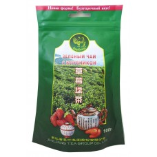 Чай зеленый листовой Верблюд Клубника, м/у, 100 г