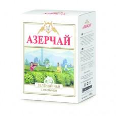 Чай зеленый листовой Азерчай с жасмином, 100 г