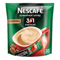 Кофейный напиток растворимый Nescafe 3 в 1 Крепкий, 20*16 г
