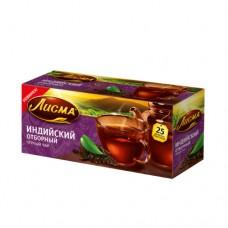 Чай черный в пакетиках для чашки, Лисма Индийский Отборный 25*2 г.