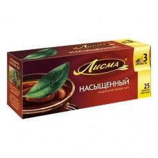 Чай черный в пакетиках для чашки, Лисма Насыщенный, 25*1,8 г