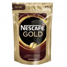 Кофе растворимый Nescafe Gold, м/у, 75 г