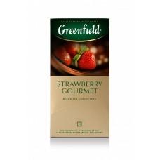Чай черный в пакетиках для чашки Greenfield Strawberry Gourmet(Строуберри Гурмэ), 25*1,5 г