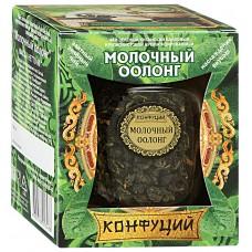 Чай зеленый листовой Конфуций Молочный оолонг, банка, 65 г