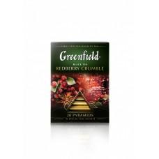 Чай черный в пирамидках Greenfield Redberry Crumble (Гринфилд Рэдберри Крамбл), 20*1,8 г