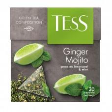 Чай зеленый в пирамидках Tess Ginger Mojito (Тесс Джинджер Мохито), 20*1,8 г