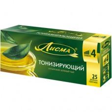 Чай зеленый в пакетиках для чашки, Лисма Тонизирующий 25*1,5 г.