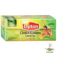 Чай зеленый в пакетиках для чашки Lipton Citrus Garden 25 пак. х 1,4 г