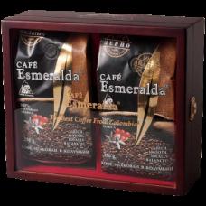 Кофе молотый 250 г + в зернах 250 г Cafe Esmeralda, в шкатулке со стеклом