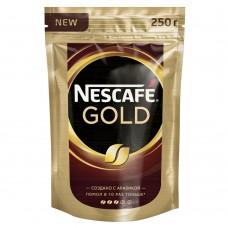 Кофе растворимый Nescafe Gold, м/у, 250 г