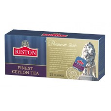 Чай черный в пакетиках для чашки Riston Файнест Цейлон, 25*1,5 г