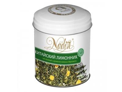 Чай зеленый листовой Nadin Китайский лимонник, ж/б, 75 г