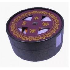 Чай черный прессованный Чю Хуа Пу-Эрх в мандарине (туба), 129 г