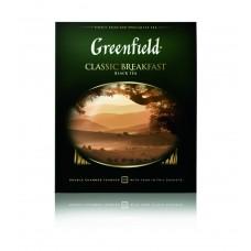 Чай черный в пакетиках для чашки Greenfield Classic Breakfast (Гринфилд Классик Брекфаст), 100*2 г