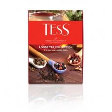 Набор черного и зеленого листового чая 9 видов TESS COLLECTION (ТЕСС коллекция), 350 г